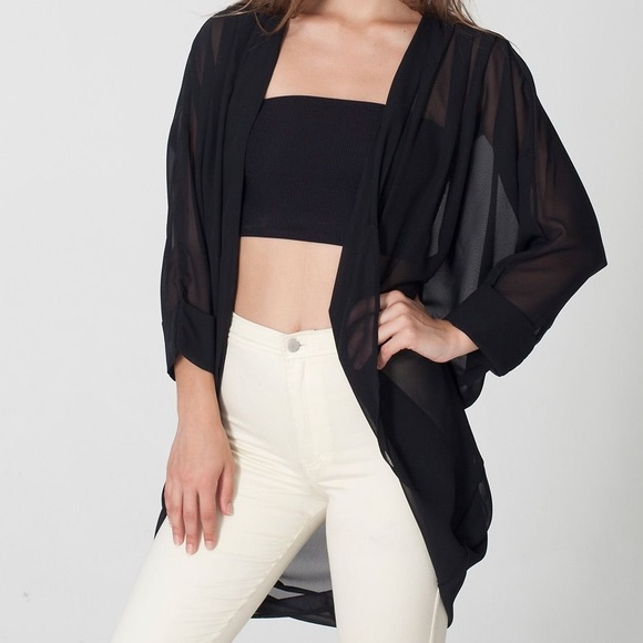 American Apparel Accessories - NWT American apparel chiffon shawl cardigan black